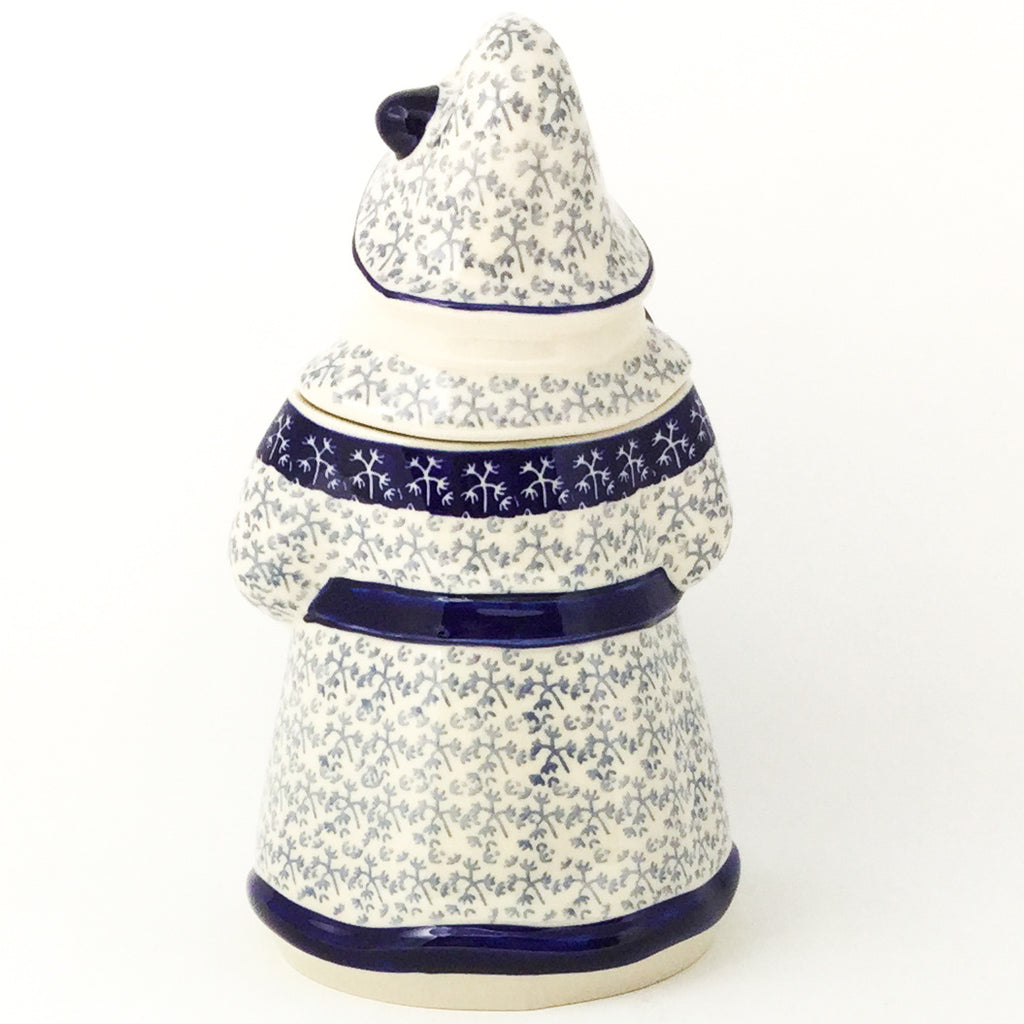 Santa Cookie Jar in Light & Dark Snowflake