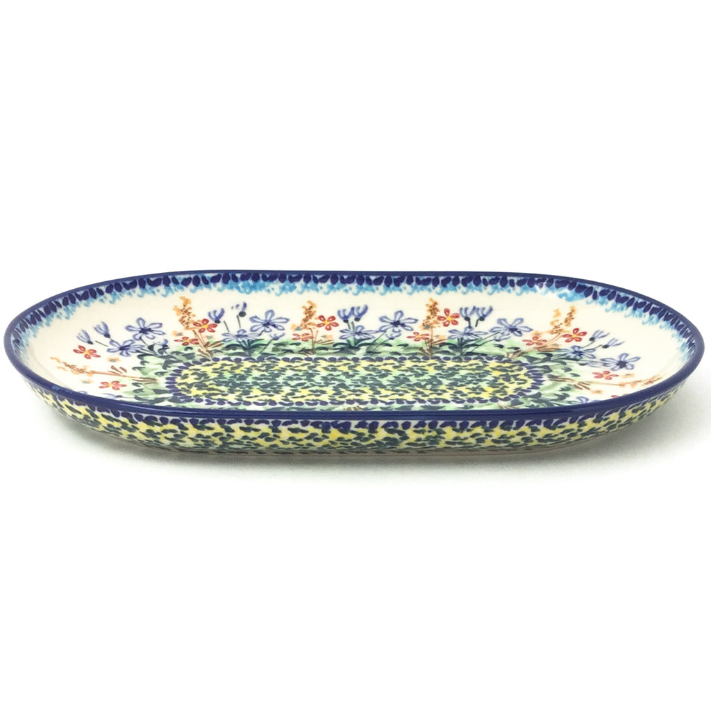 Tiny Oval Platter in Country Spring