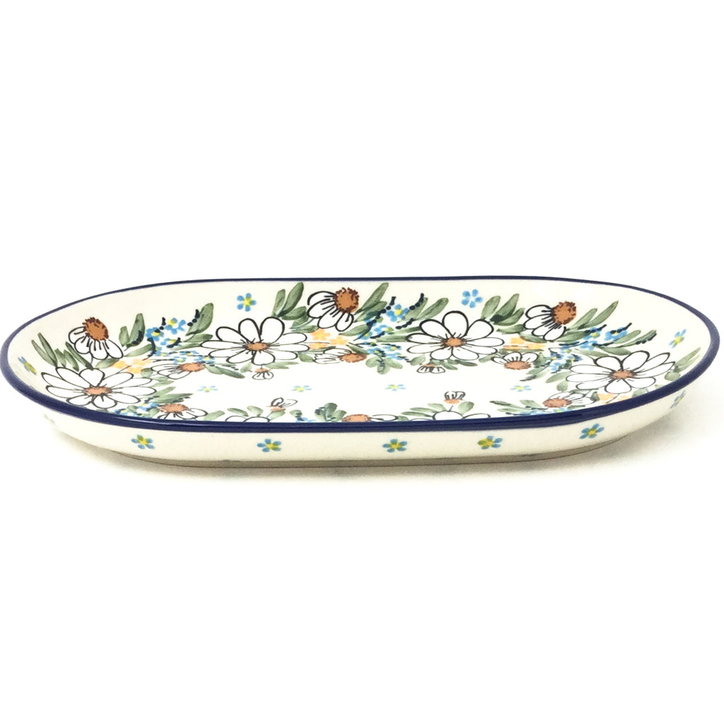Tiny Oval Platter in Spectacular Daisy