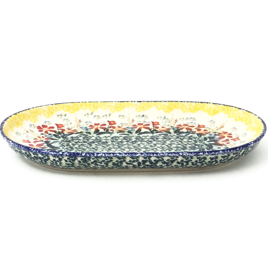 Tiny Oval Platter in Country Summer