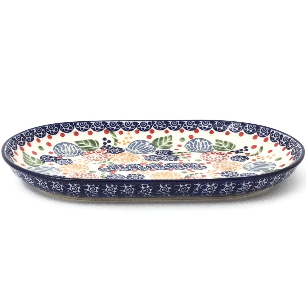 Tiny Oval Platter in Modern Berries