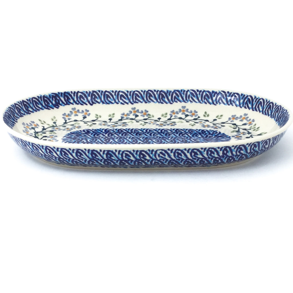 Sm Oval Platter in Blue Meadow