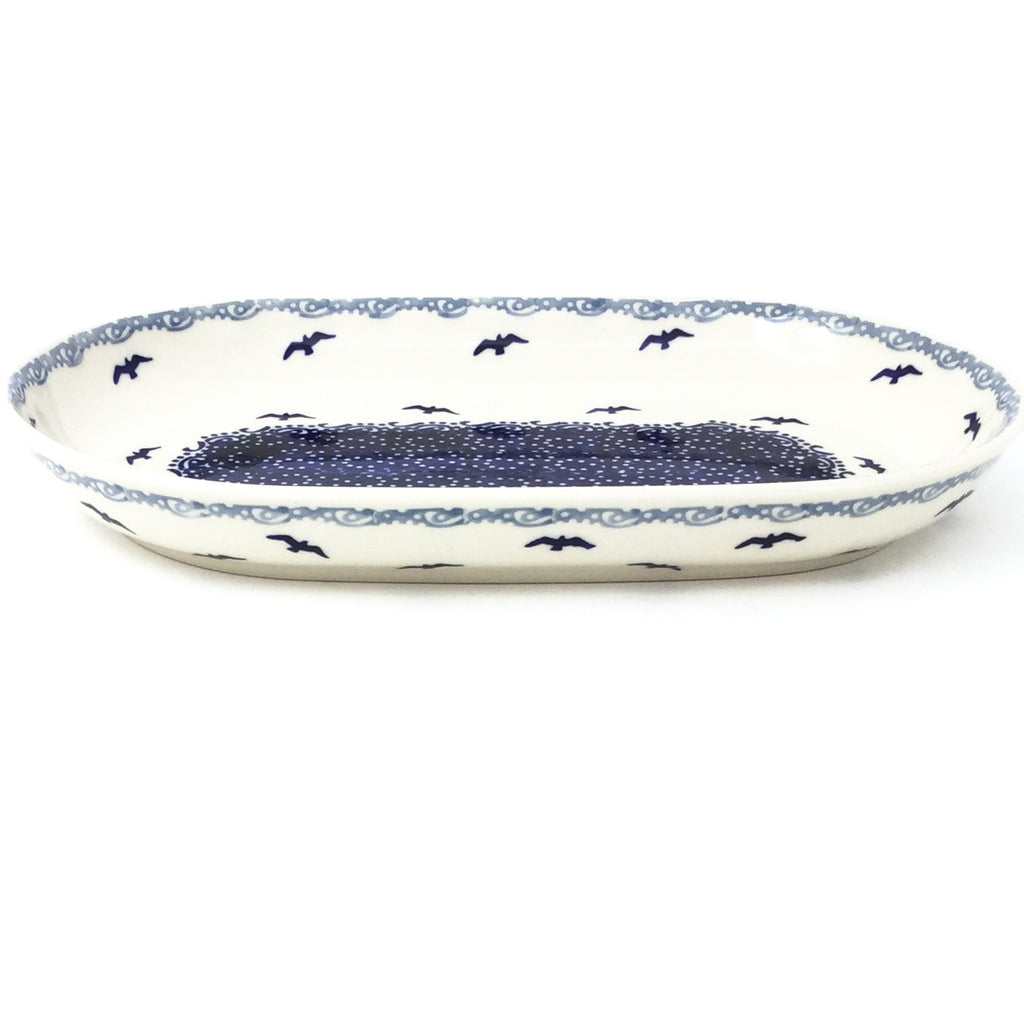 Sm Oval Platter in Seagulls