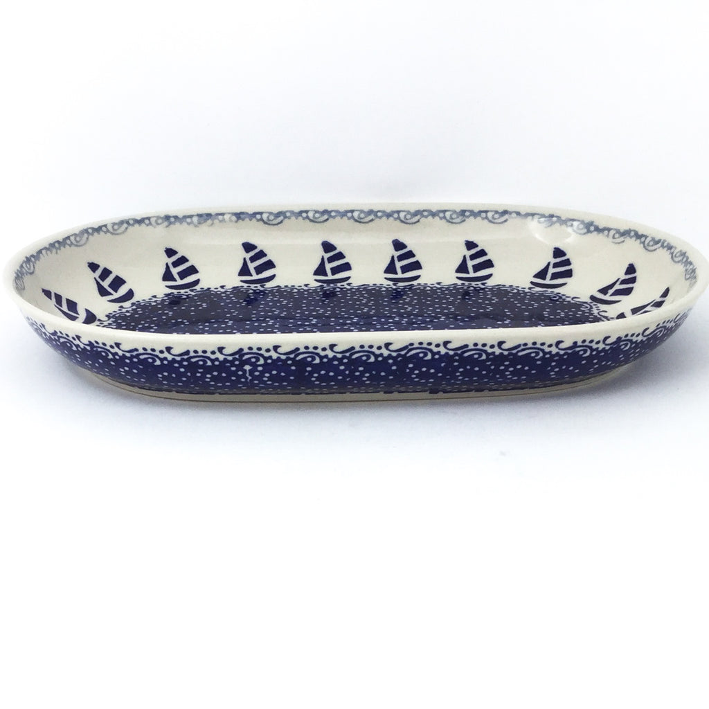 Sm Oval Platter in Sail Regatta