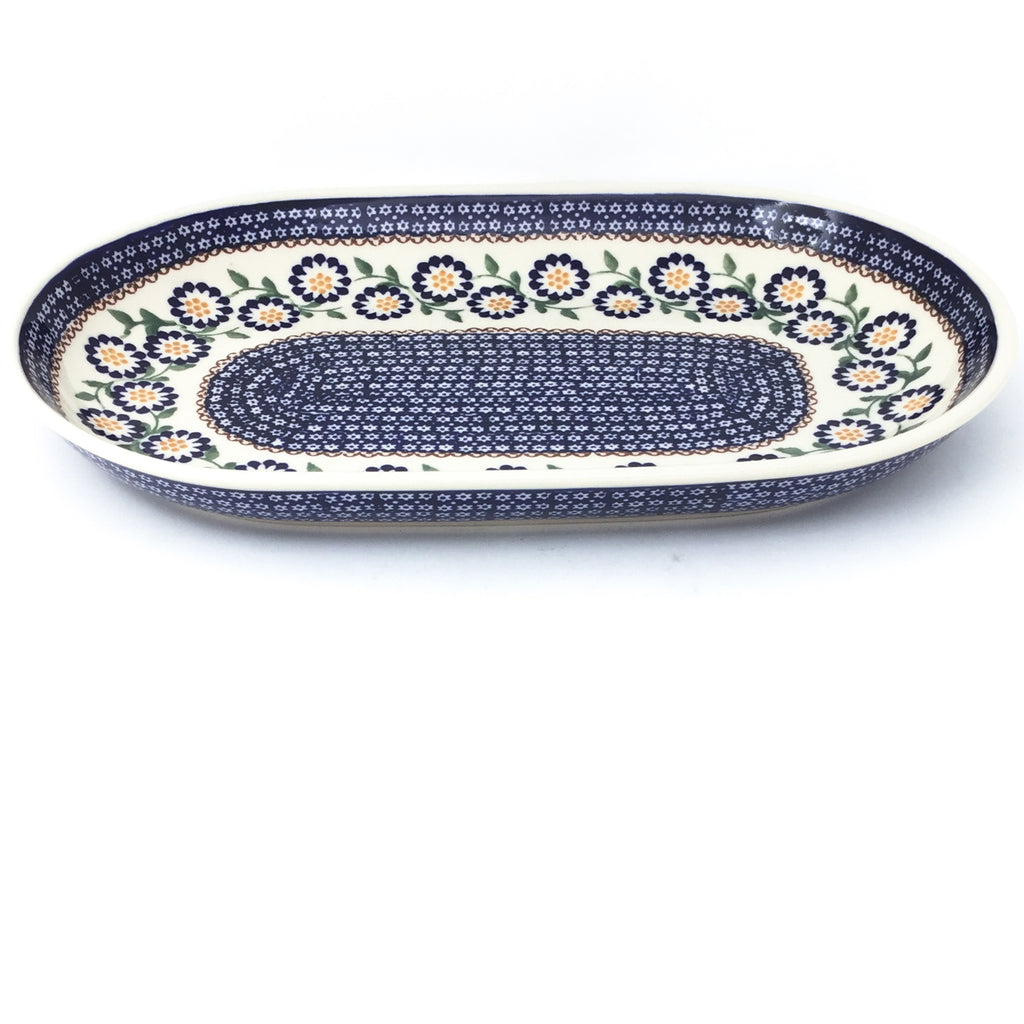 Md Oval Platter in Yellow Aster