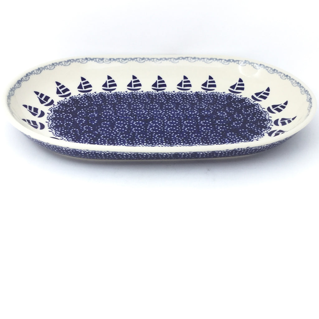 Md Oval Platter in Sail Regatta