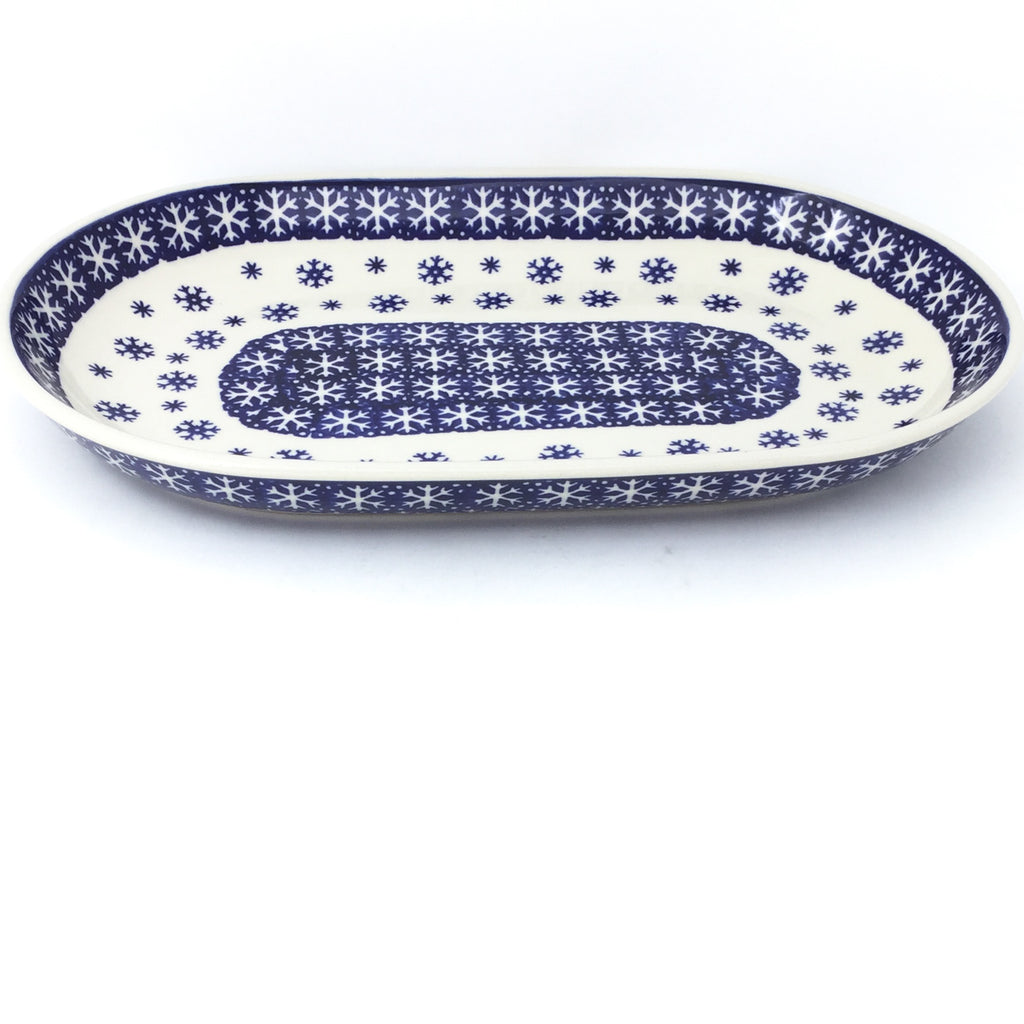 Md Oval Platter in Snowflake