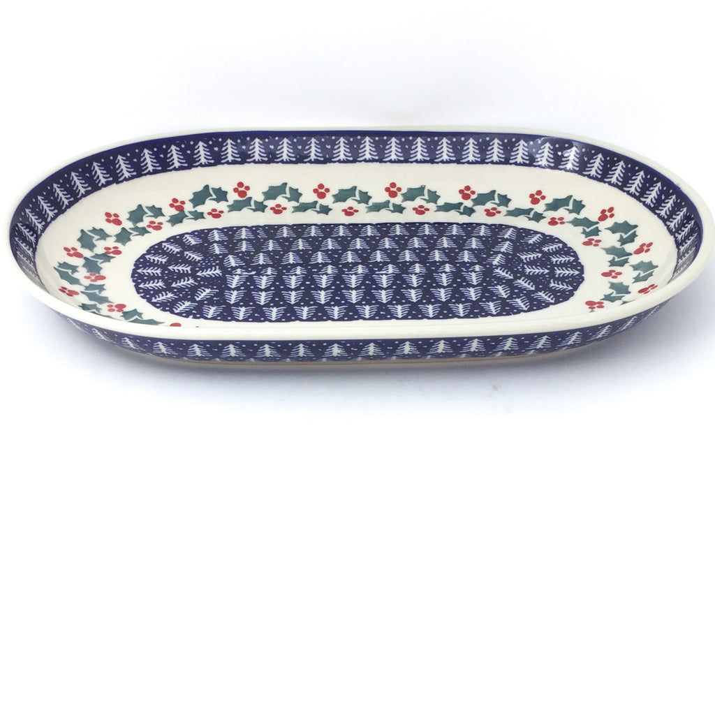 Md Oval Platter in Winter Holly