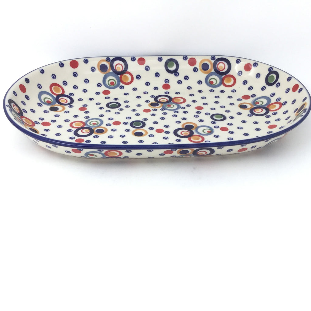 Md Oval Platter in Modern Circles