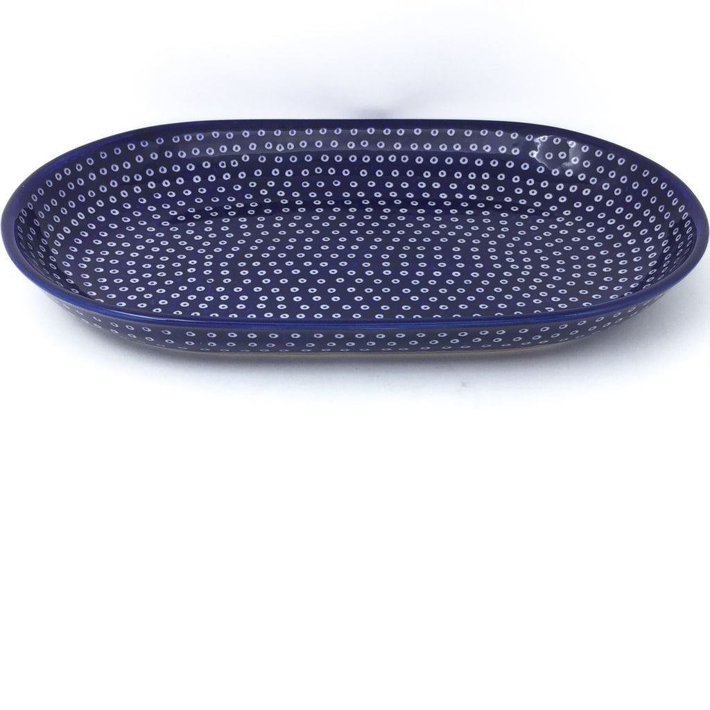 Md Oval Platter in Blue Elegance