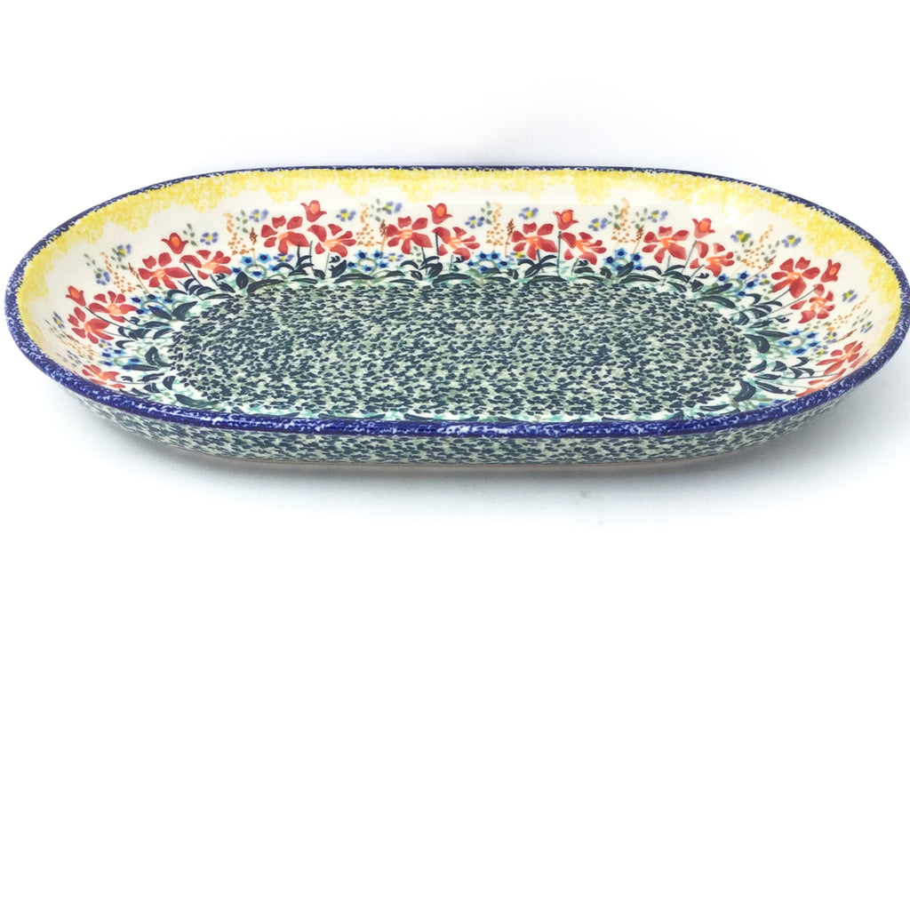 Md Oval Platter in Country Summer