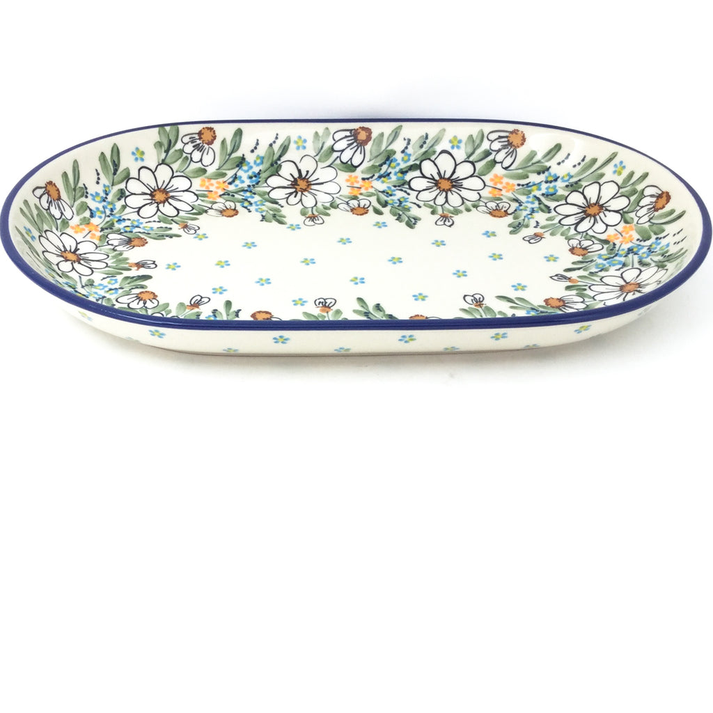 Md Oval Platter in Spectacular Daisy