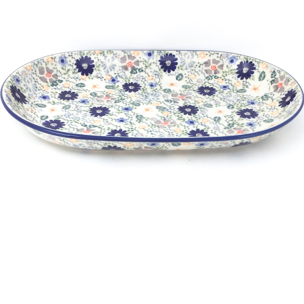 Md Oval Platter in Morning Breeze