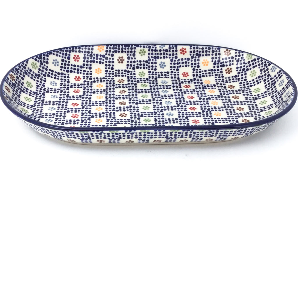 Md Oval Platter in Modern Checkers