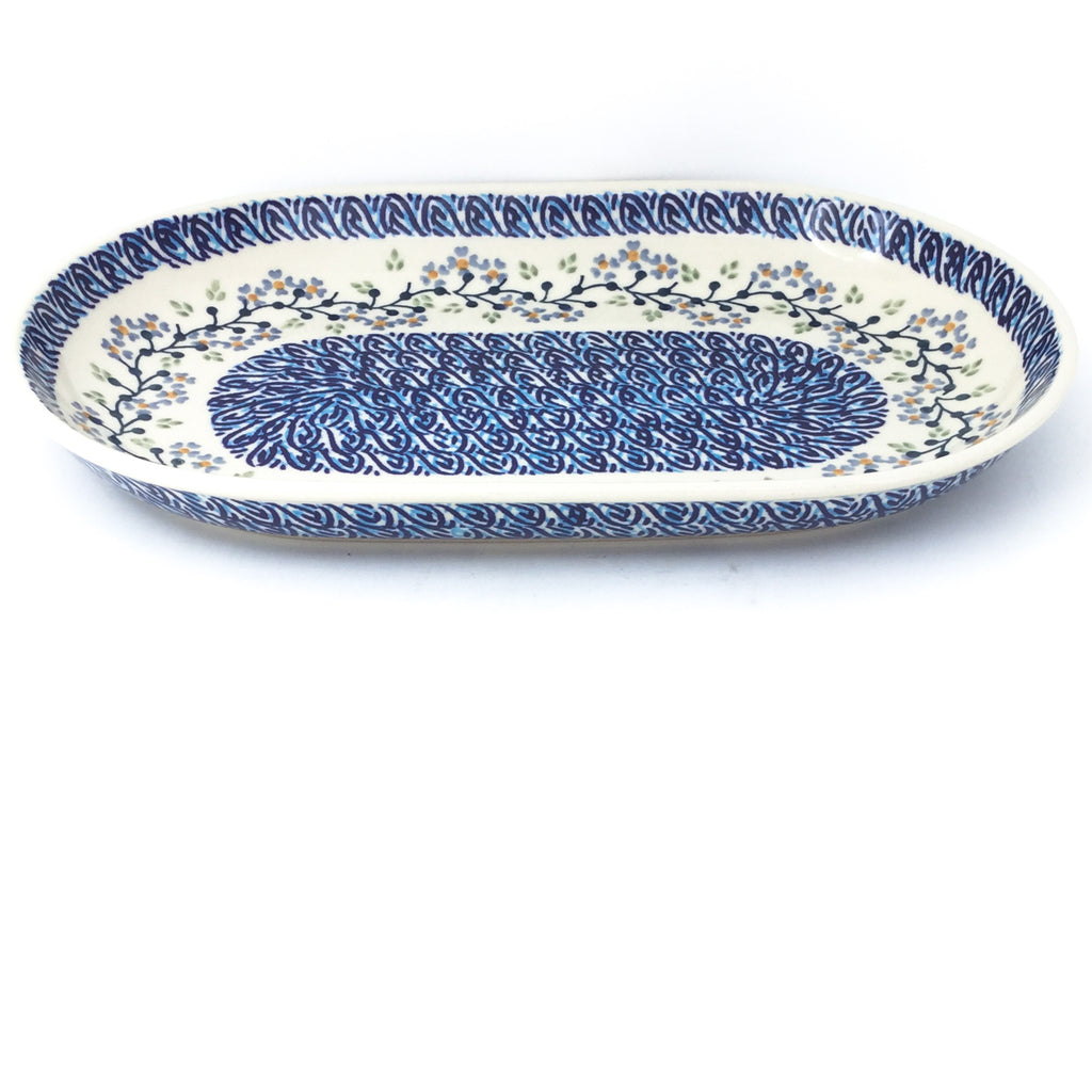 Md Oval Platter in Blue Meadow