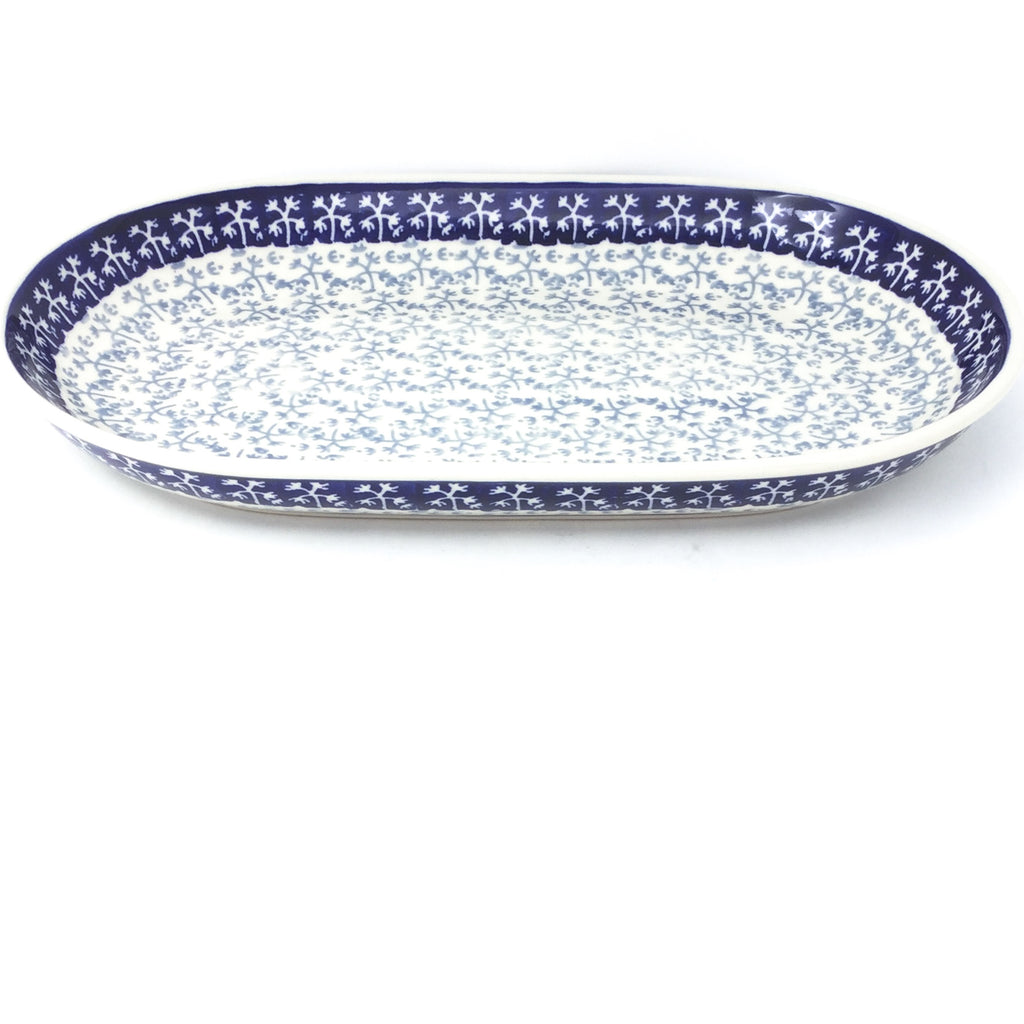 Md Oval Platter in Light & Dark Snowflake