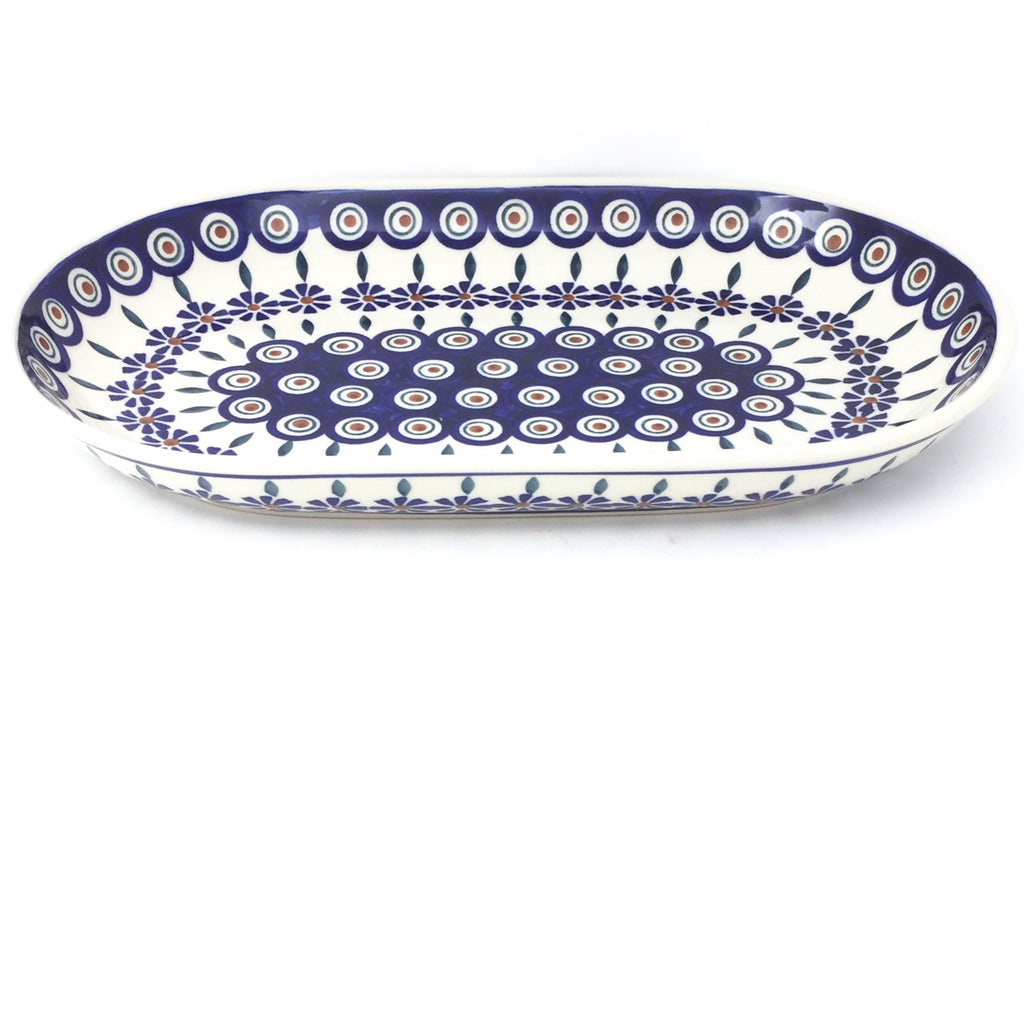 Md Oval Platter in Peacock