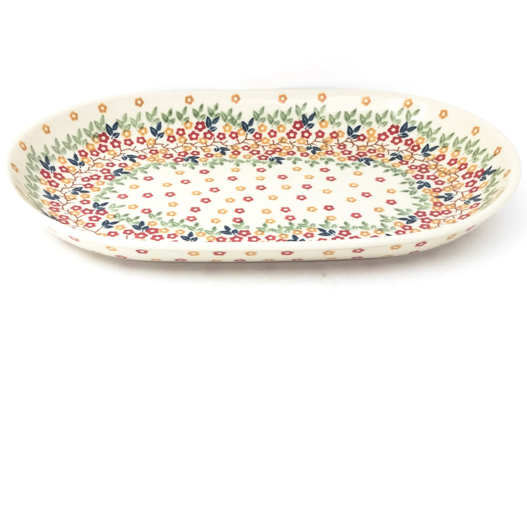 Md Oval Platter in Tiny Flowers