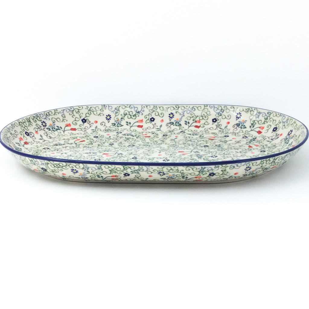 Lg Oval Platter in Early Spring