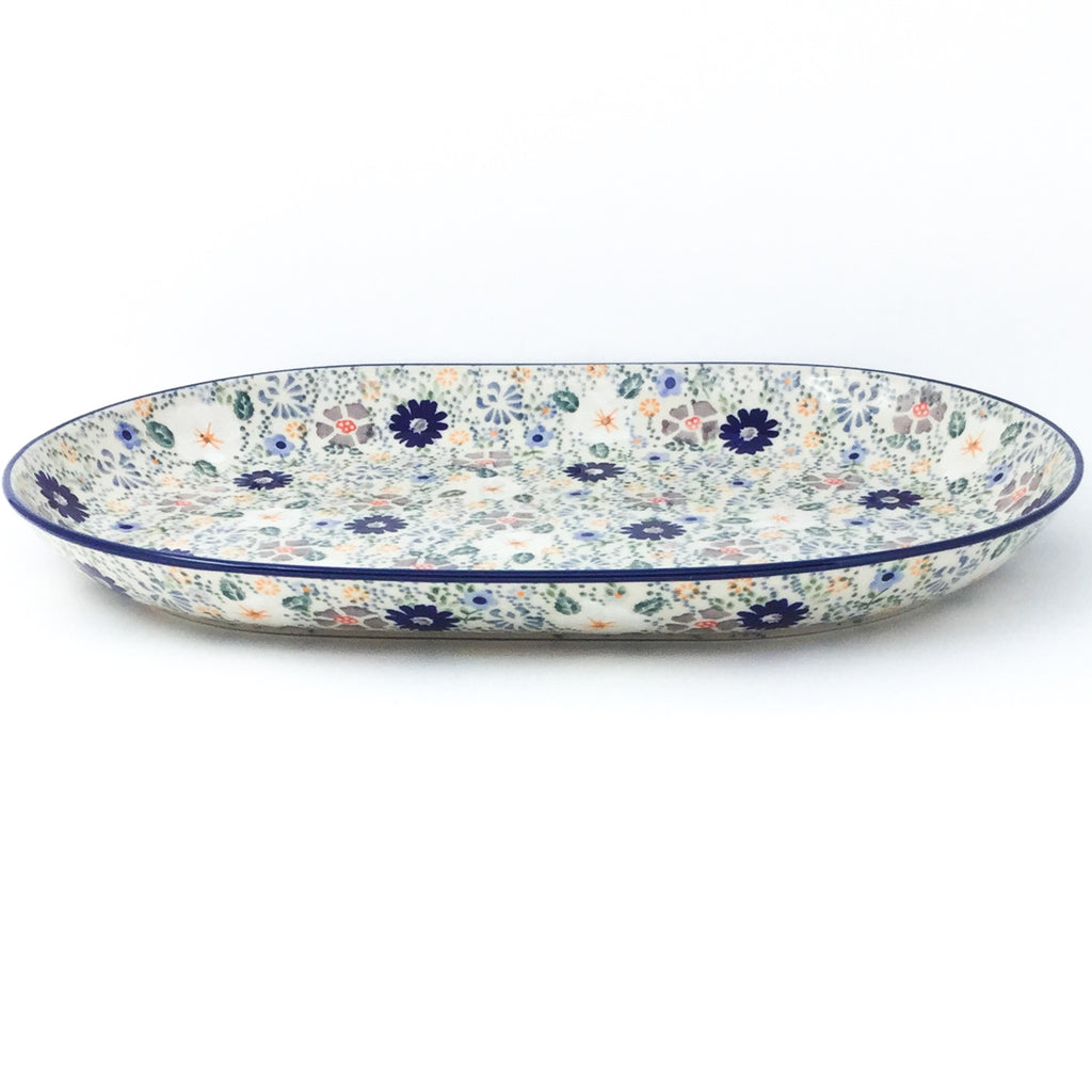 Lg Oval Platter in Morning Breeze