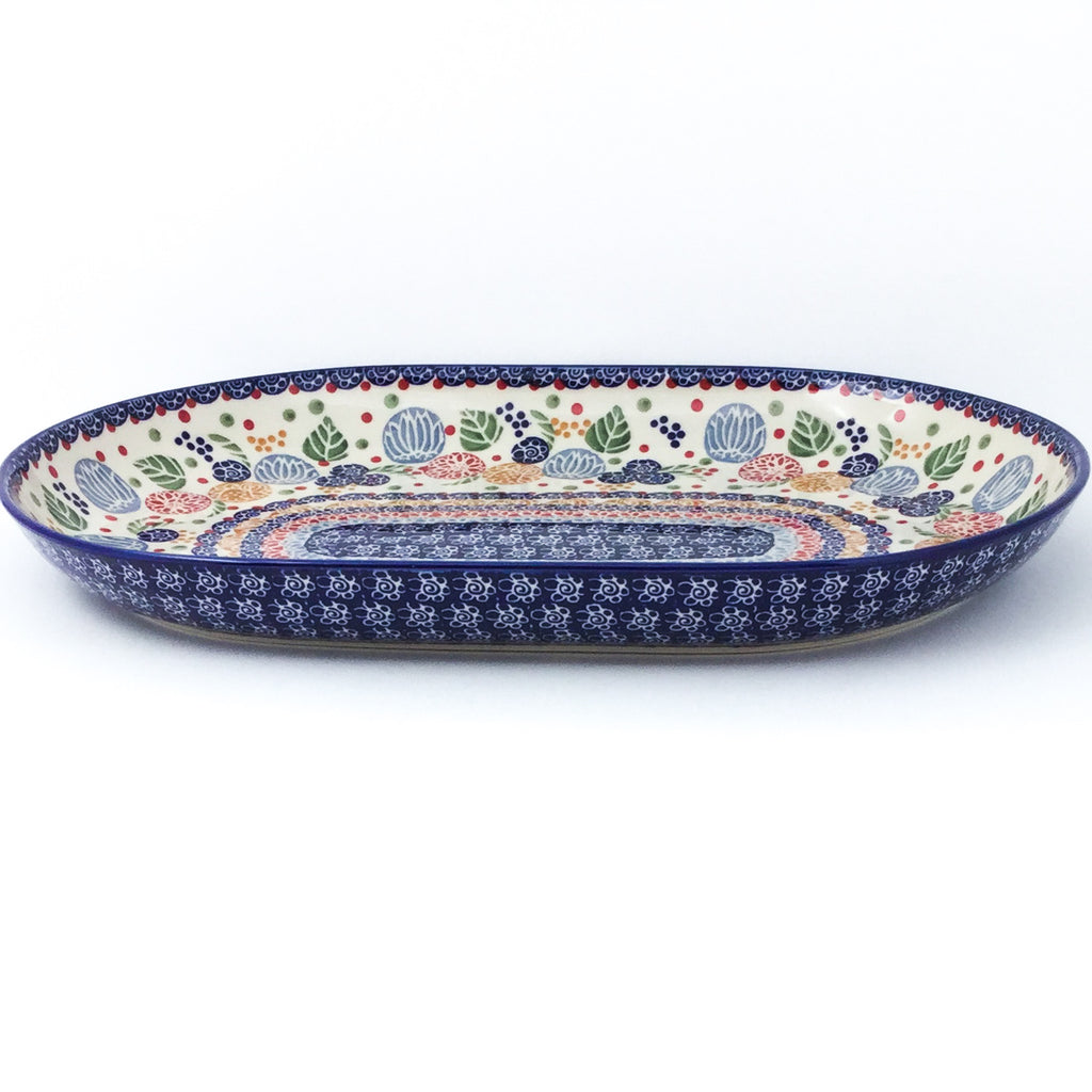 Lg Oval Platter in Modern Berries