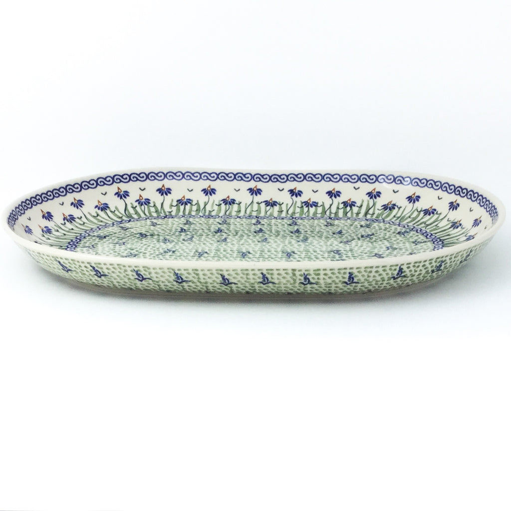 Lg Oval Platter in Blue Iris