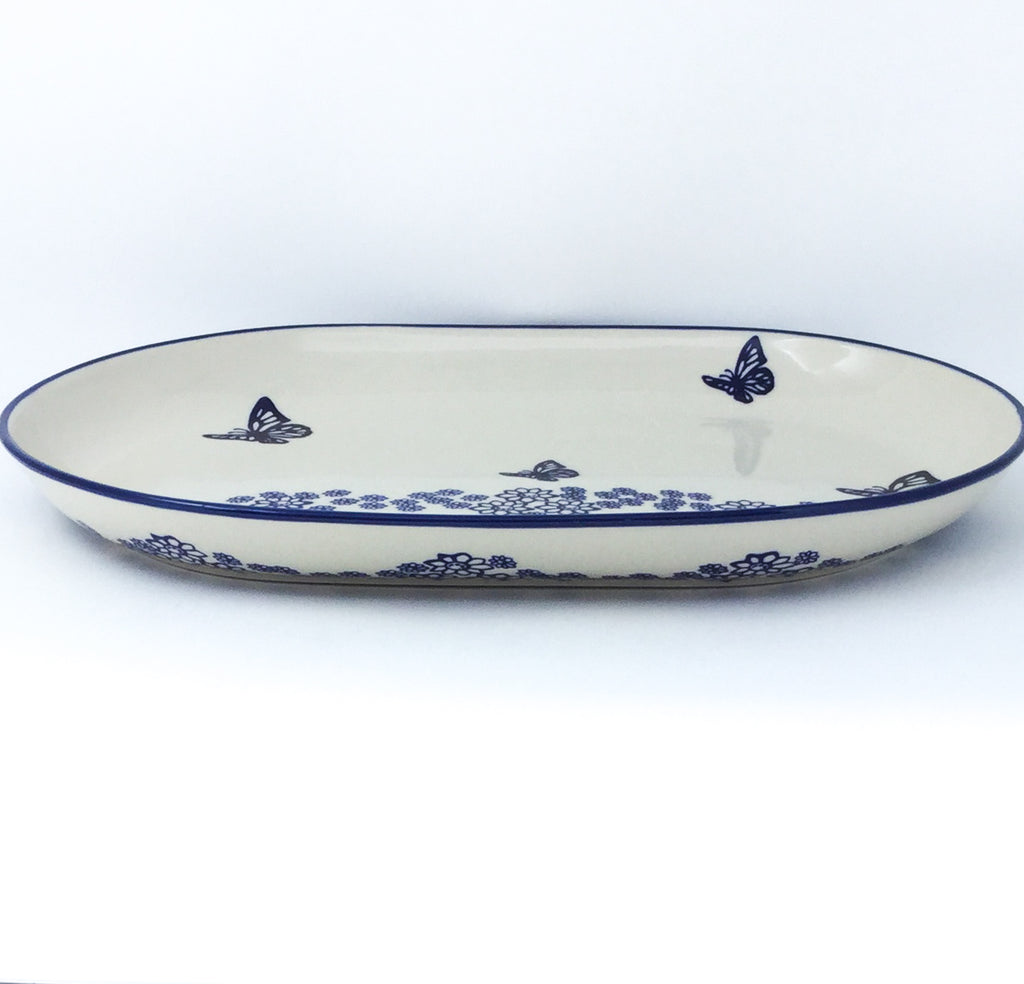 Lg Oval Platter in Butterfly