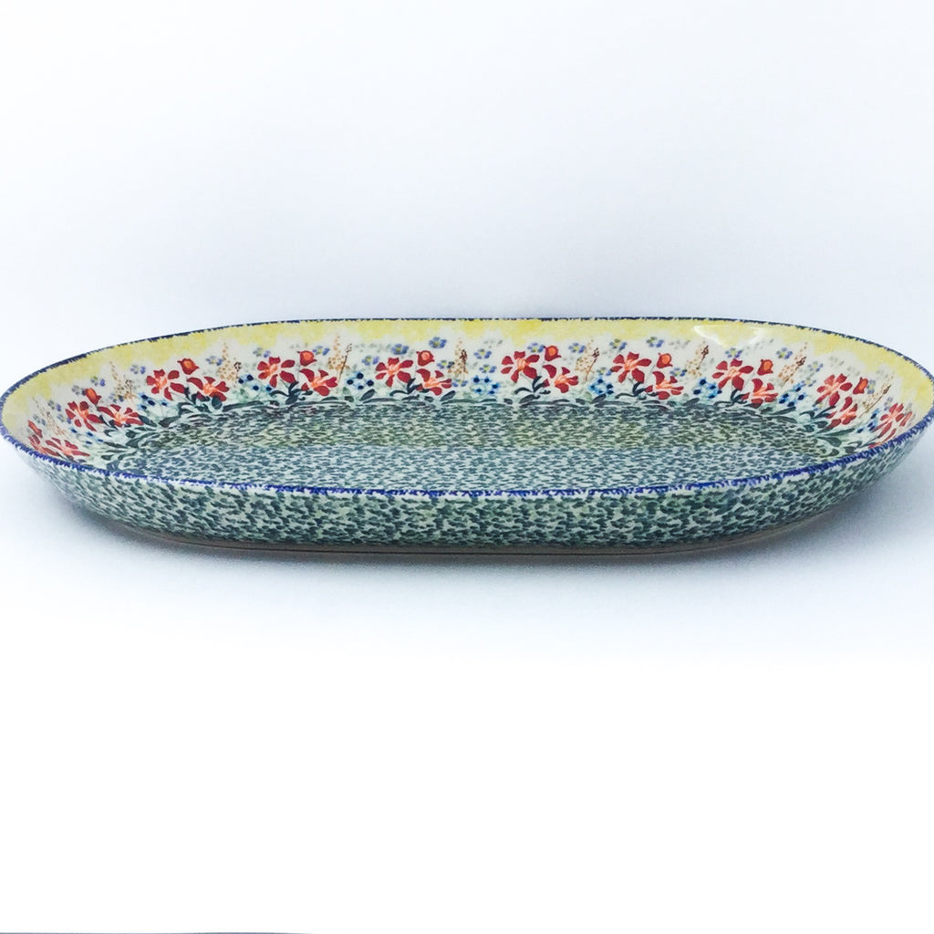 Lg Oval Platter in Country Summer