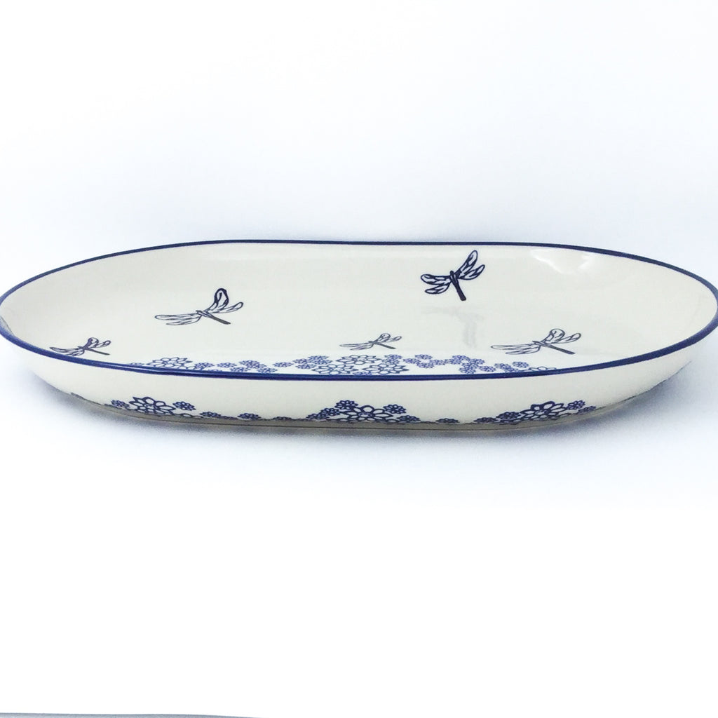 Lg Oval Platter in Dragonfly