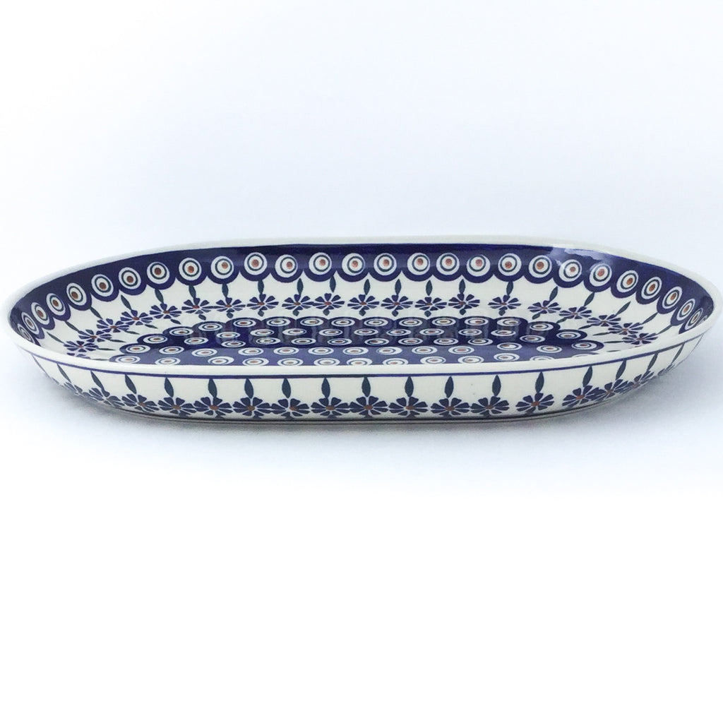 Lg Oval Platter in Peacock