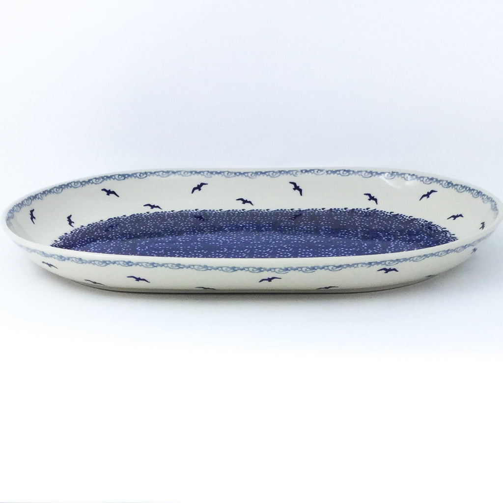 Lg Oval Platter in Seagulls