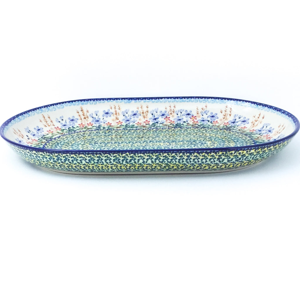Lg Oval Platter in Country Spring