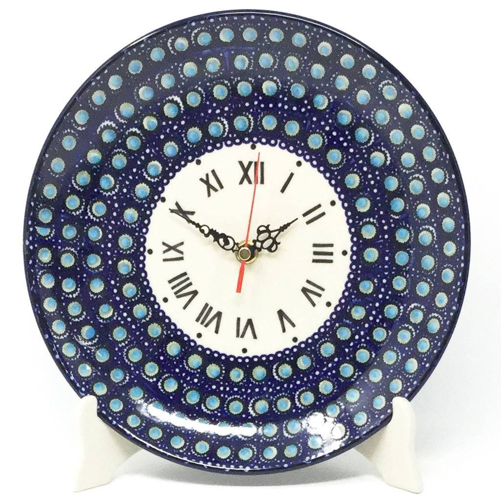 Plate Wall Clock in Blue Moon