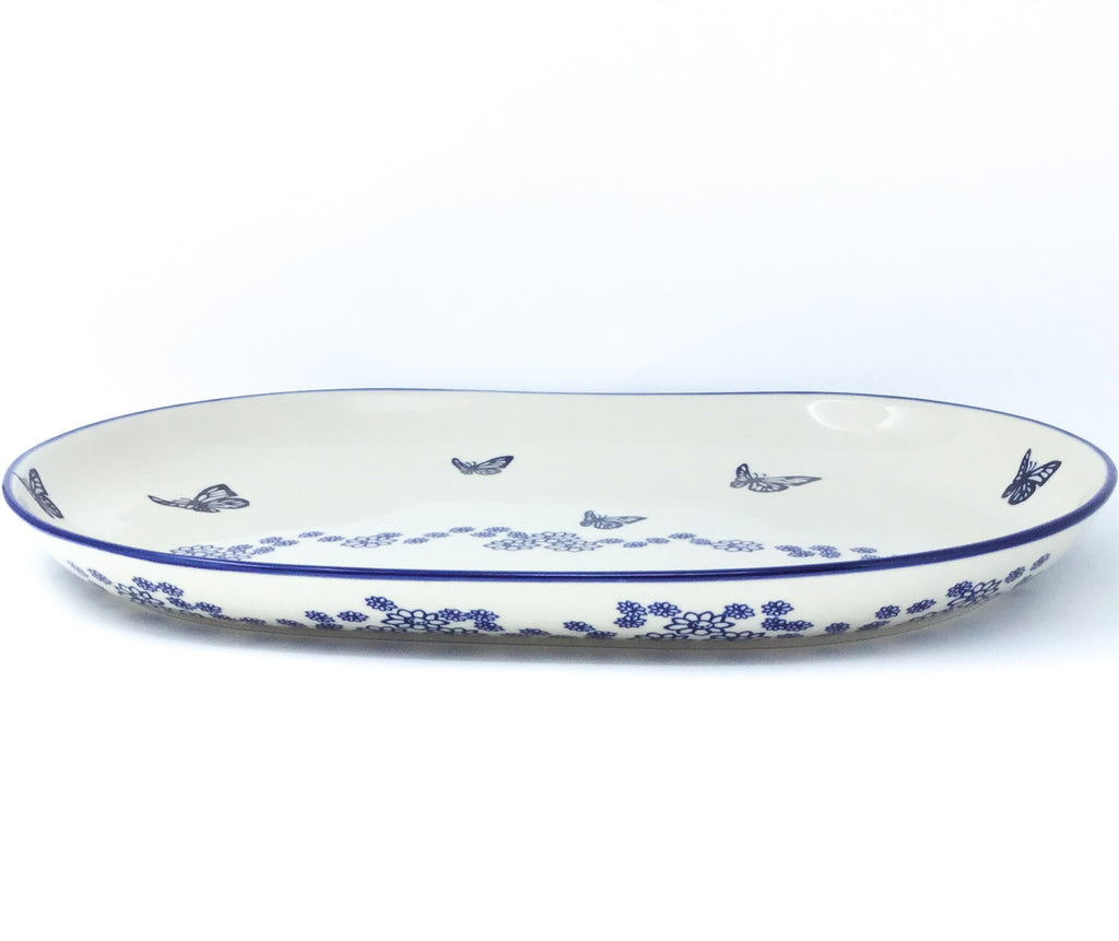 Ex Lg Oval Platter in Butterfly