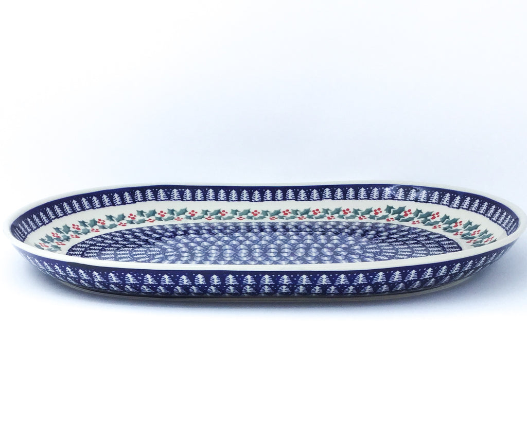 Ex Lg Oval Platter in Winter Holly