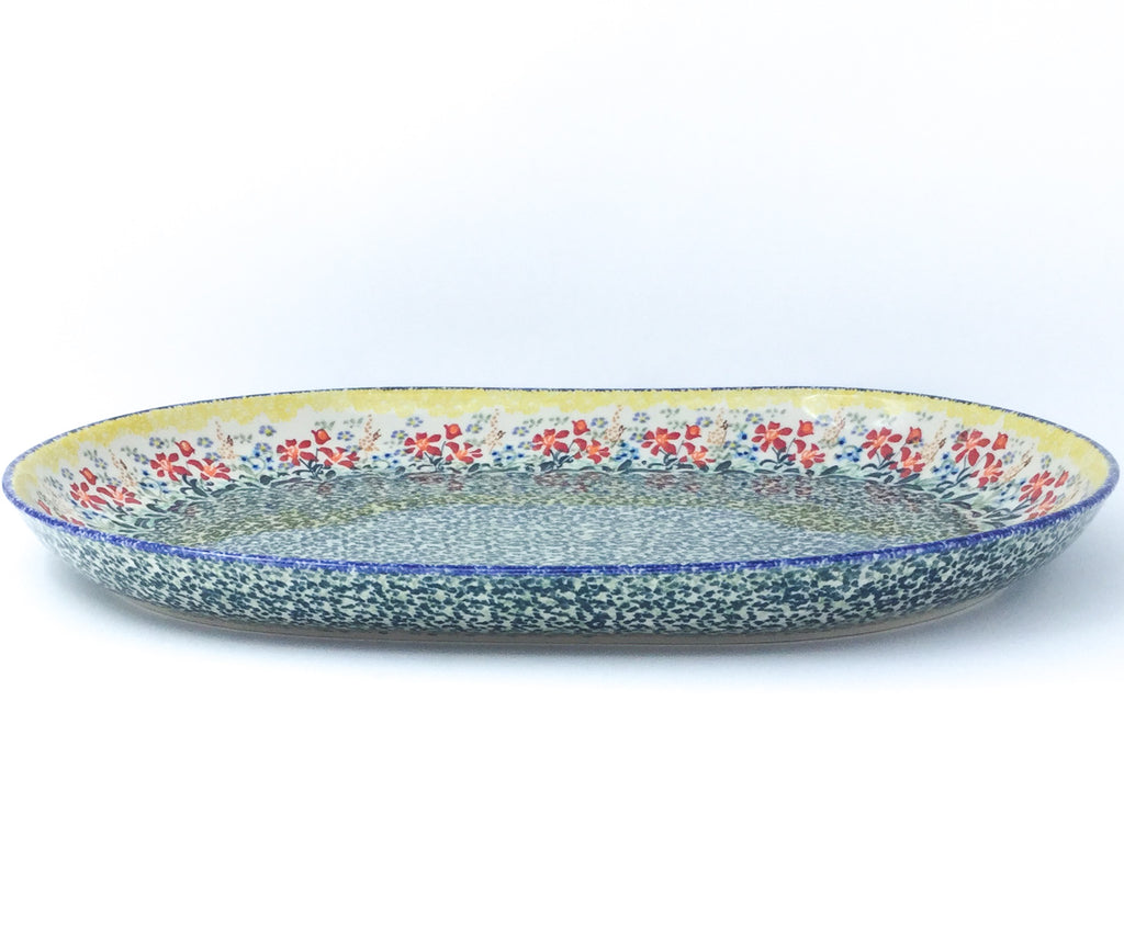 Ex Lg Oval Platter in Country Summer