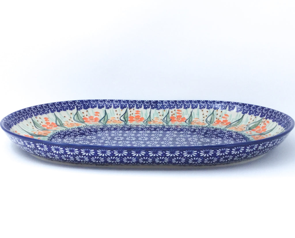 Ex Lg Oval Platter in Sunshine Meadow
