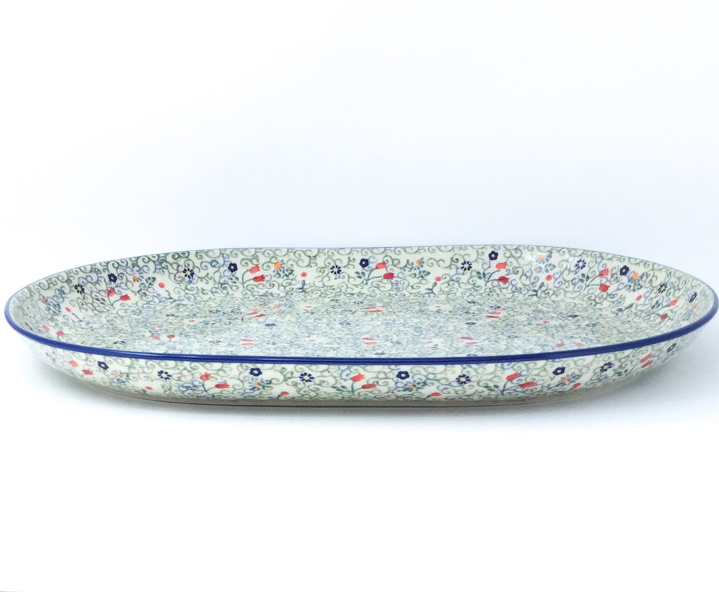 Ex Lg Oval Platter in Early Spring
