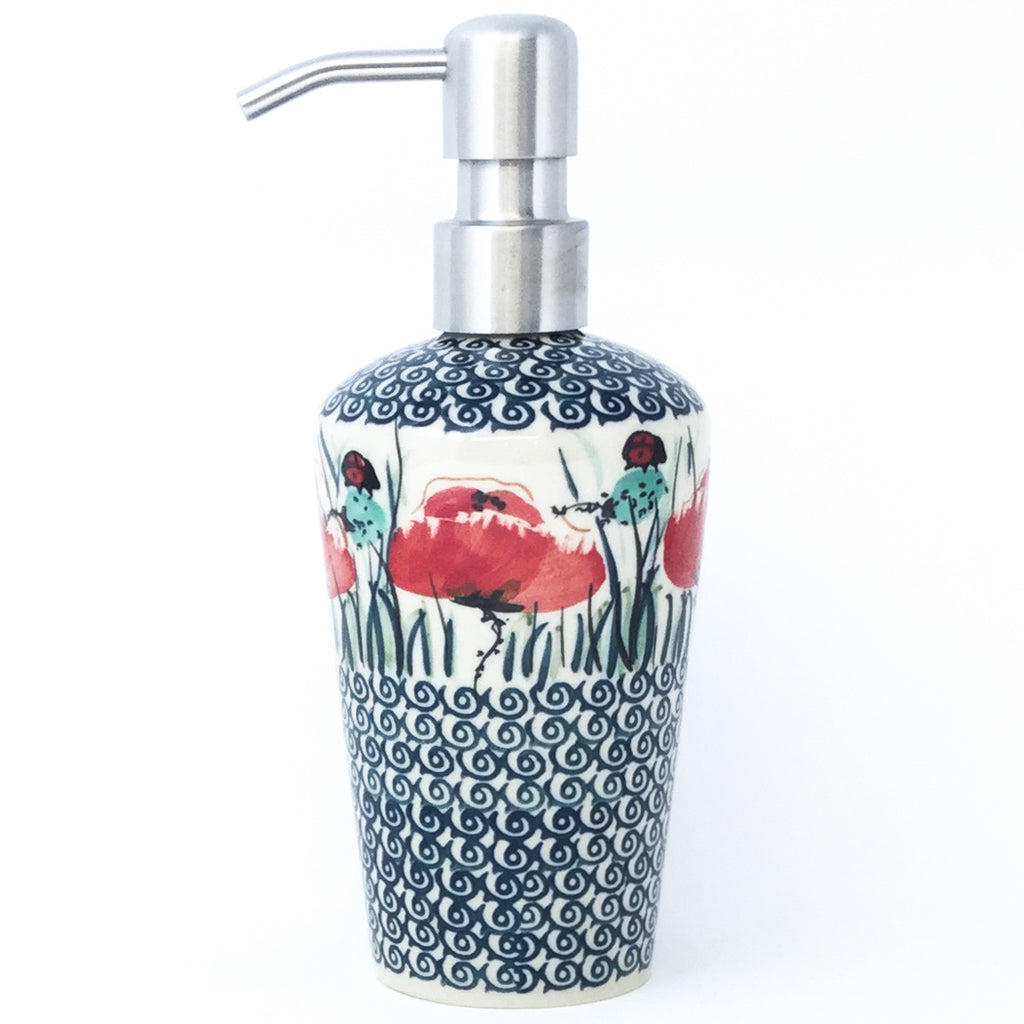 Soap Dispenser in Polish Poppy