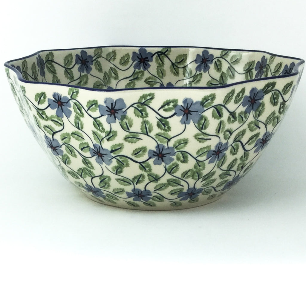 Sm New Kitchen Bowl in Blue Clematis