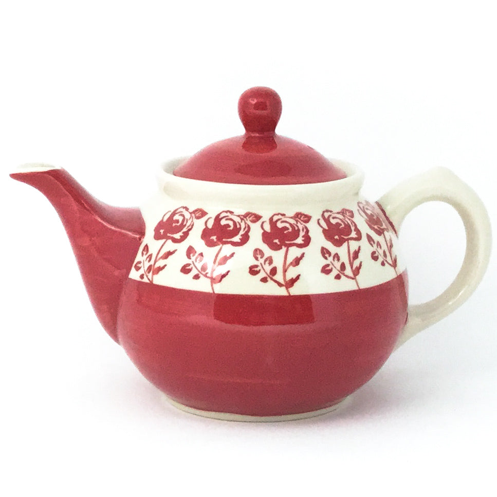 Morning Teapot 1 qt in Red Rose