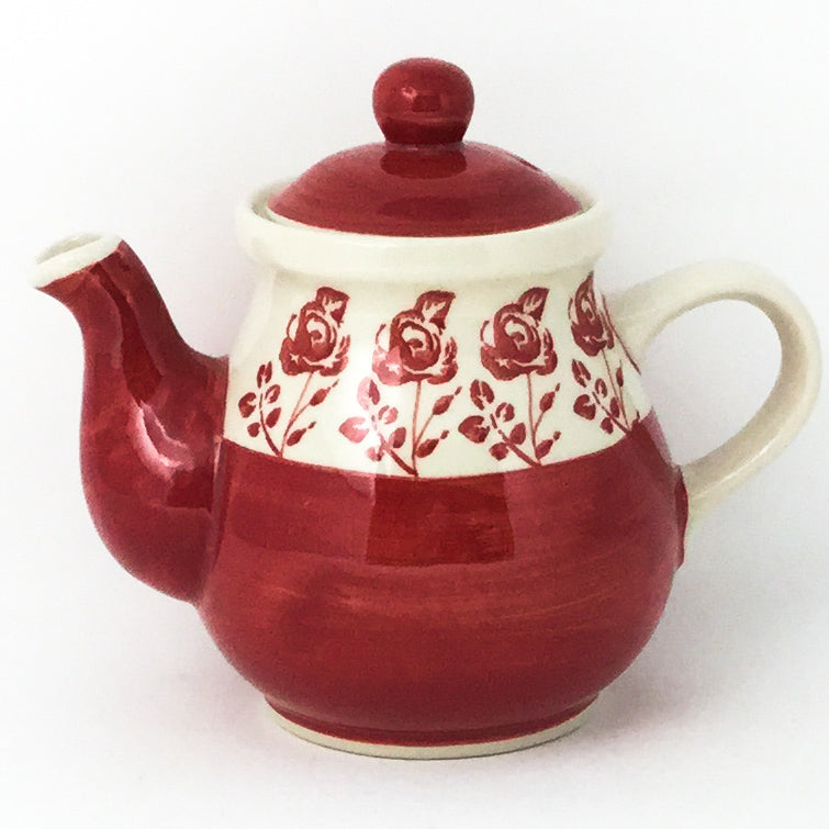 Night Time Teapot 12 oz in Red Rose