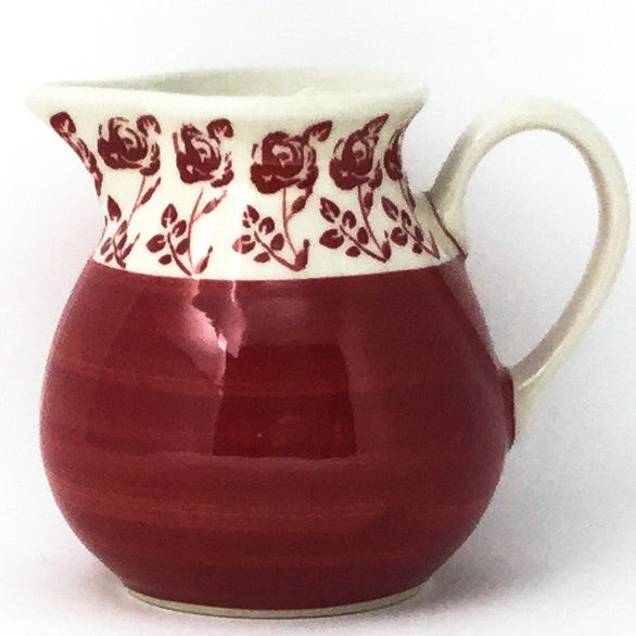 Family Style Creamer 16 oz in Red Rose