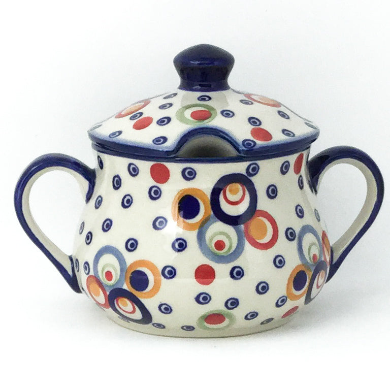 Family Style Sugar Bowl 14 oz in Modern Circles