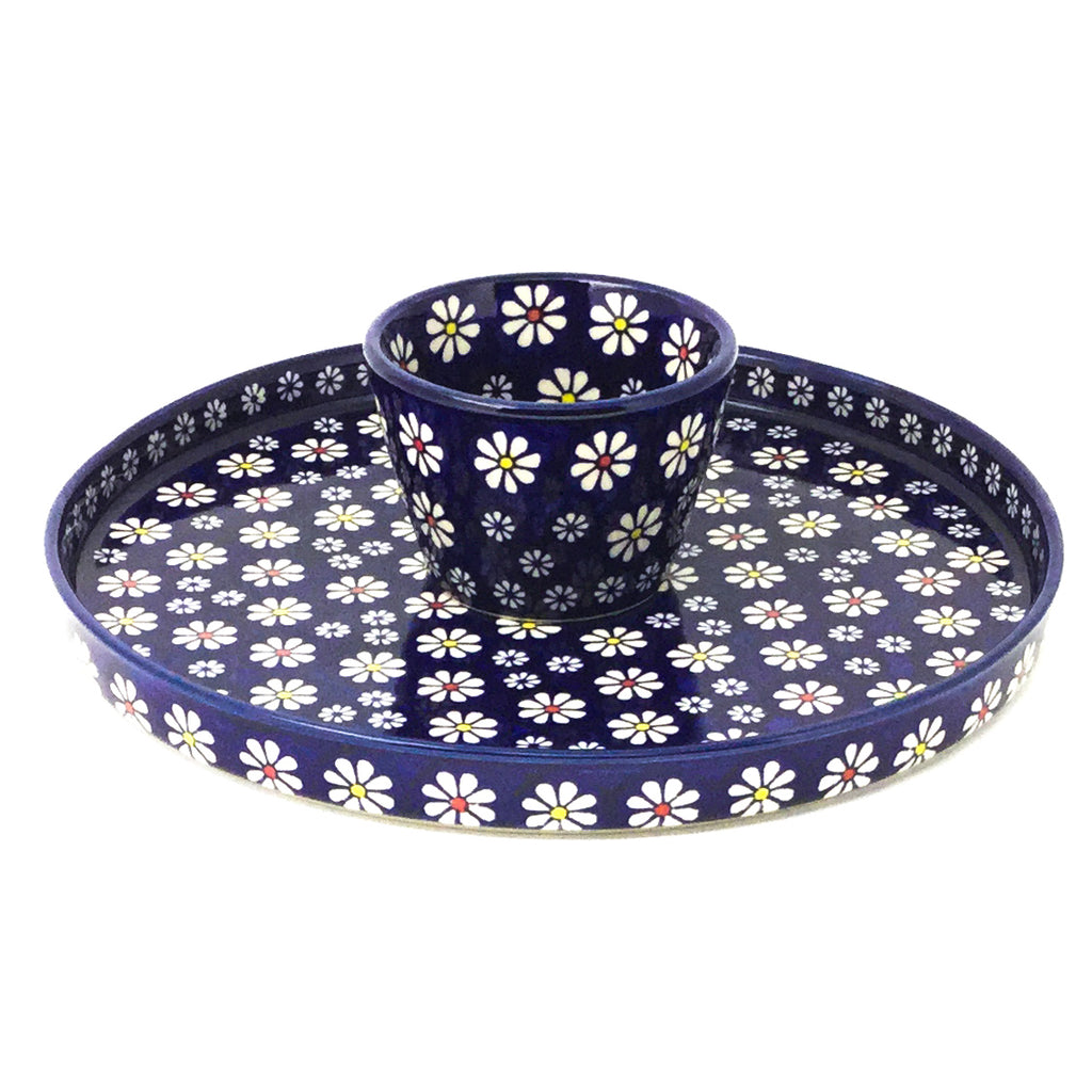 Party Platter w/Bowl in Flowers on Blue
