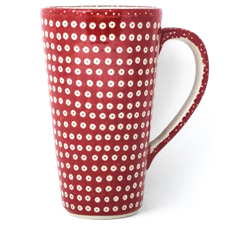 Tall Cup 12 oz in Red Elegance