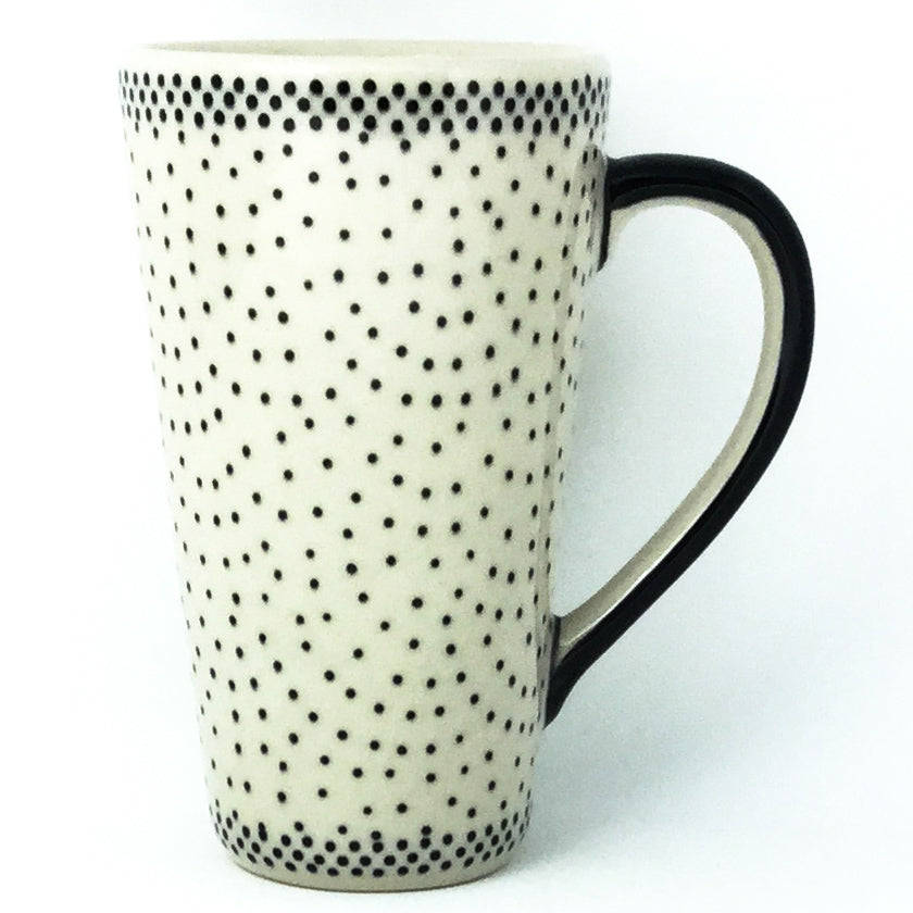 Tall Cup 12 oz in Black Elegance