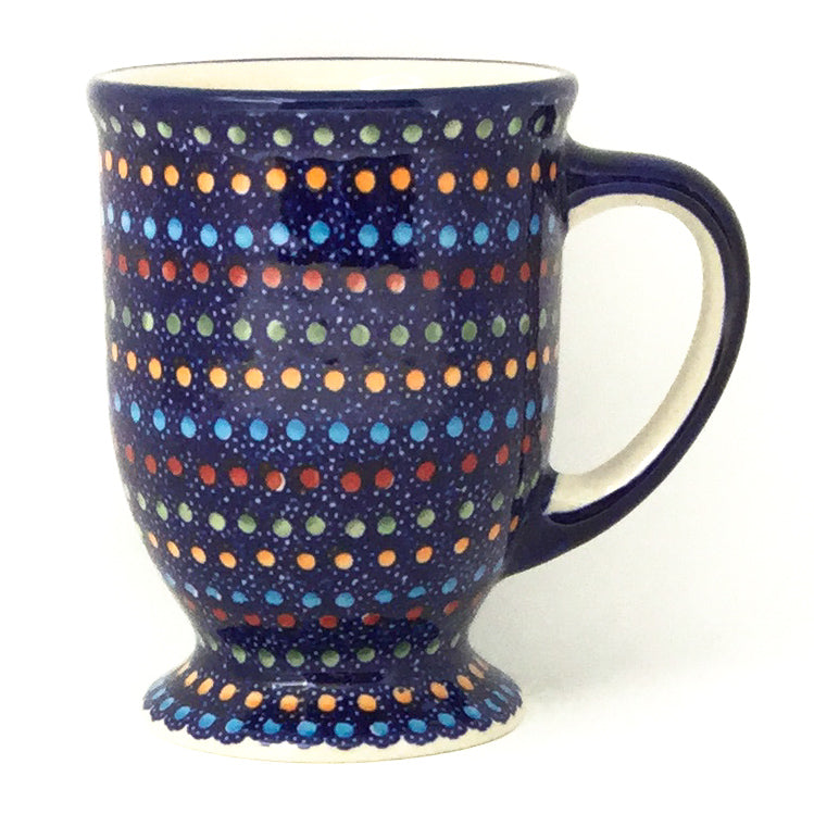 Pedestal Cup 12 oz in Multi-Colored Dots