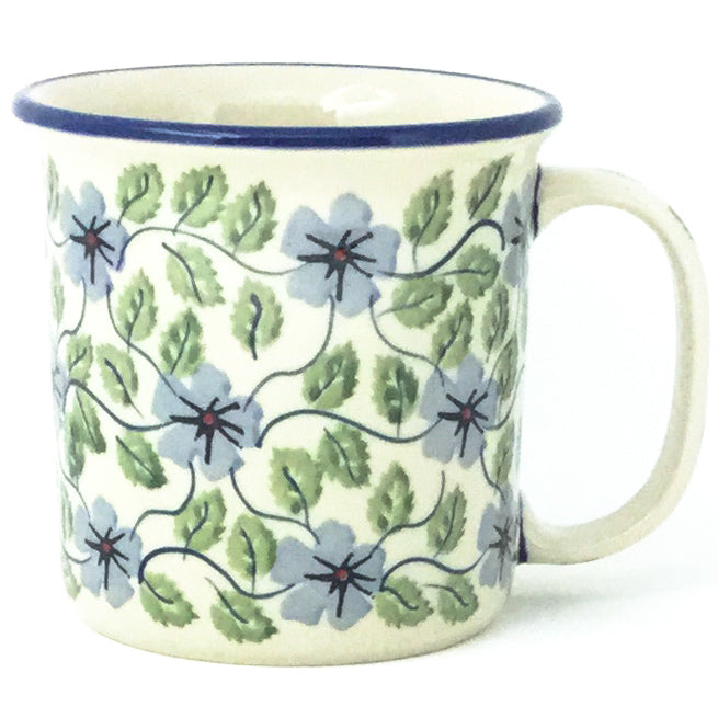 Straight Cup 12 oz in Blue Clematis