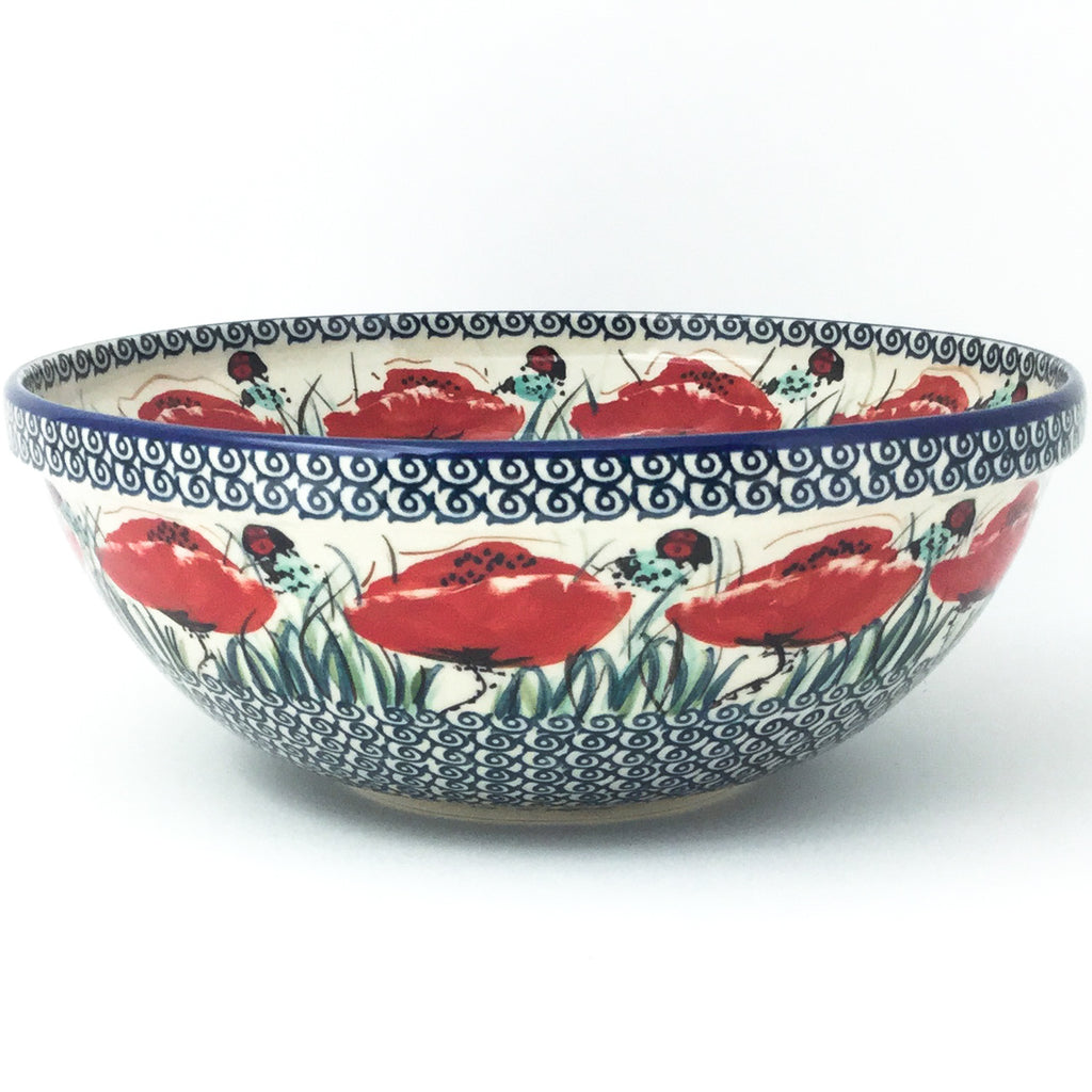 Round Bowl 64 oz in Polish Poppy
